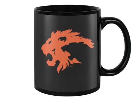 Eureka Lions Logo MUG (orange on black)