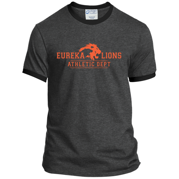 "2017 LIONS ""ATHLETIC DEPT-2-ORNG"" Ringer Tee"