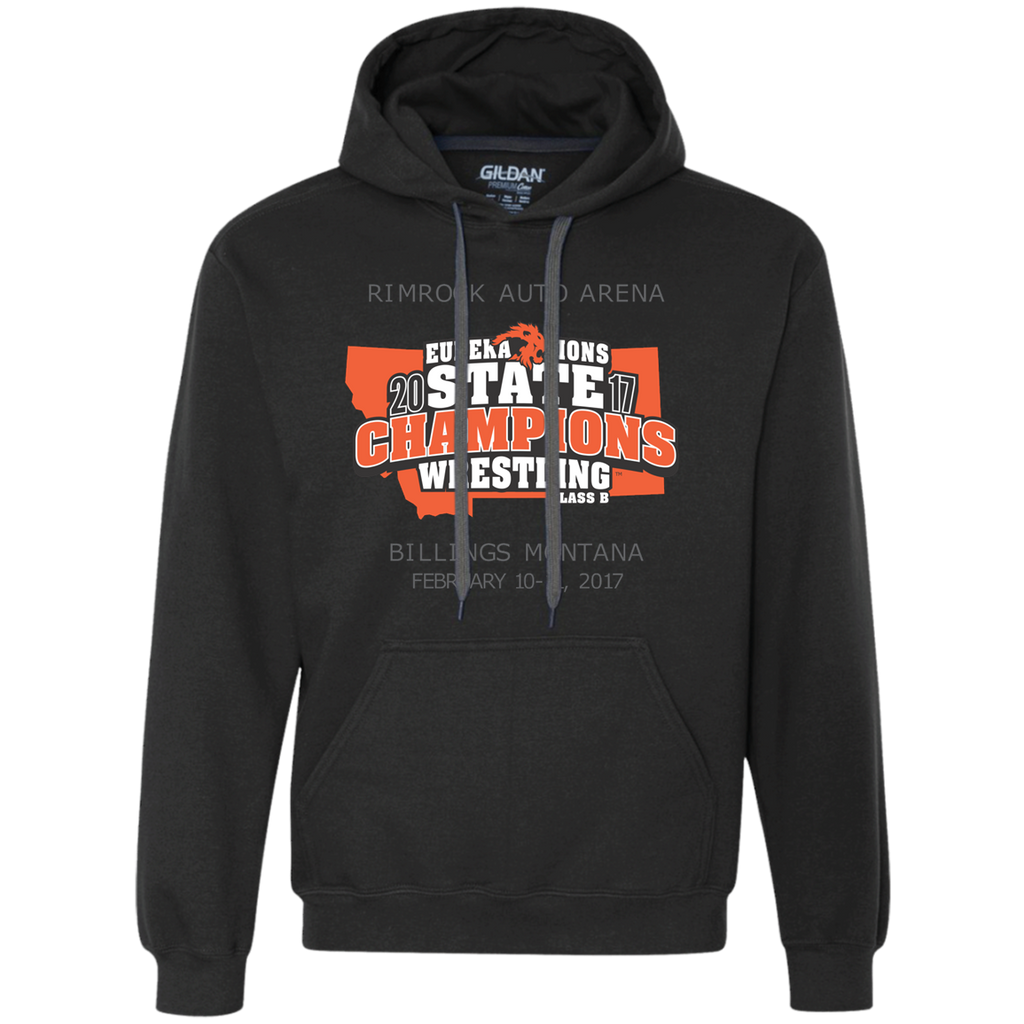"""2017 WRESTLING STATE CHAMPS"" - Heavyweight Pullover Fleece Hoodie"