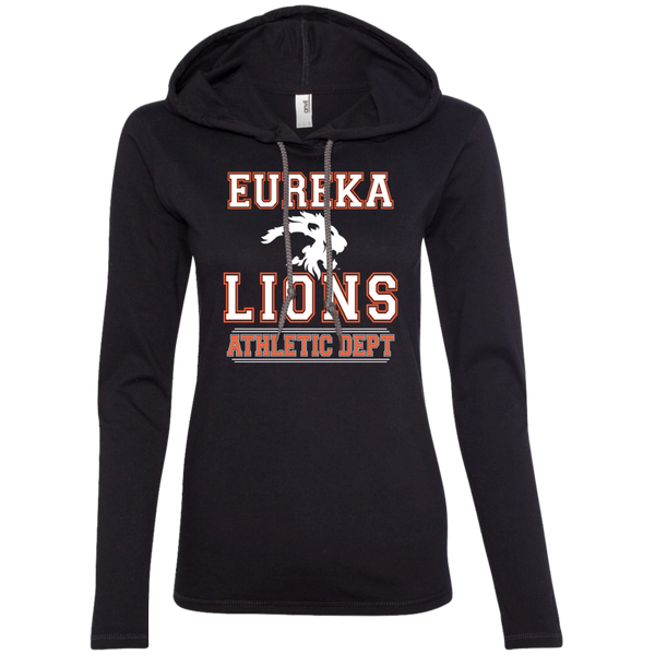"2017 LIONS ""ATHLETIC DEPT-White"" Ladies LS T-Shirt Hoodie"