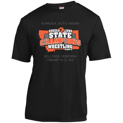 """2017 WRESTLING STATE CHAMPS"" - Short Sleeve Moisture-Wicking Shirt"