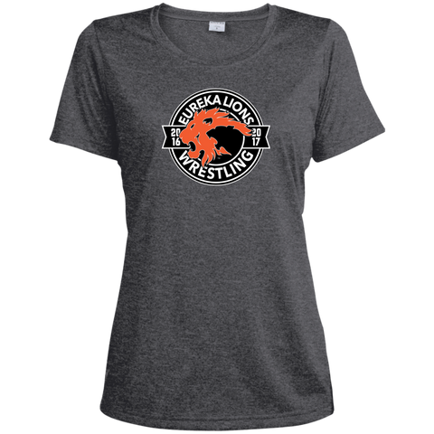 Ladies Heather 'WRESTLING' Dri-Fit Moisture-Wicking Tee