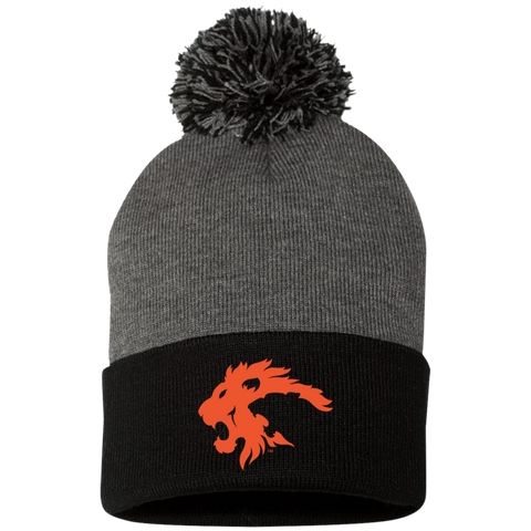"CLASSIC LION ""Orange"" - Beanie with Pom"