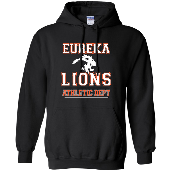 "2017 LIONS ""ATHLETIC DEPT- White"" Pullover Hoodie 8 oz"
