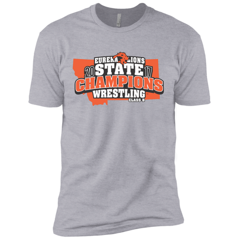"""2017 WRESTLING STATE CHAMPS"" Next Level Premium Short Sleeve Tee"