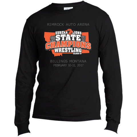 """2017 WRESTLING STATE CHAMPS"" - Long Sleeve Made in the US T-Shirt"