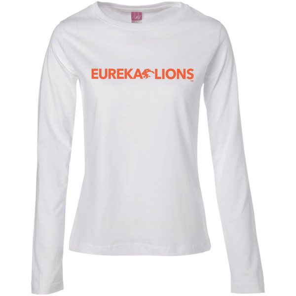 "EUREKA LIONS ""Classic"" Ladies Long Sleeve Cotton TShirt"