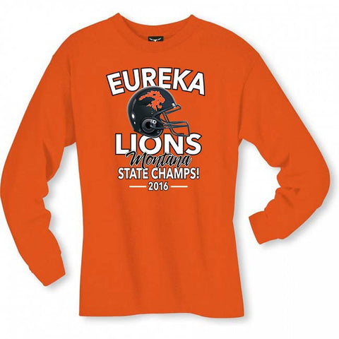 2016 Eureka Lions Champs Long Sleeve Tee (orange)