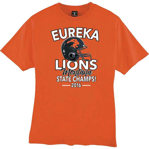 2016 Eureka Lions Champs Tee (orange)