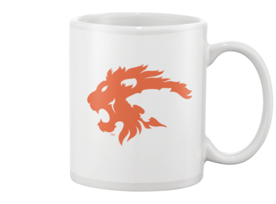 Eureka Lions Logo MUG (orange on white)