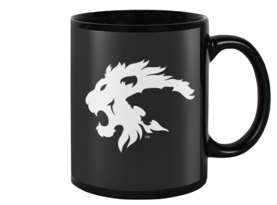 Eureka Lions Logo MUG (white on black)