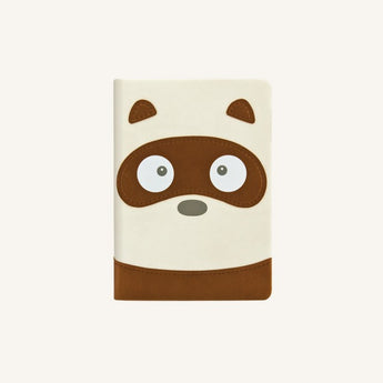 Animal Pals Lined Notebook A6 - Tanuki