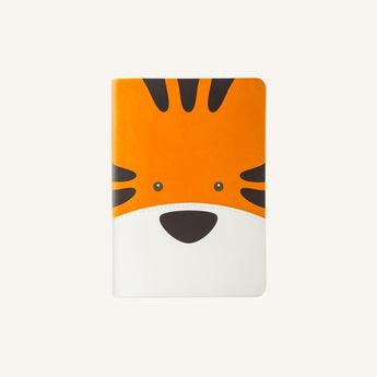 Animal Pals Lined Notebook A6 - Tiger
