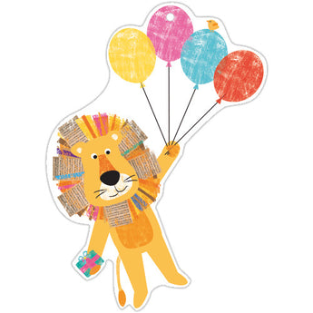 Animal and Balloons Gift Tag