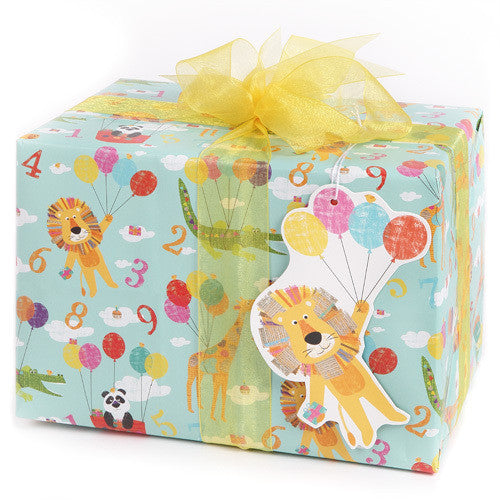 Animals and Balloons (Folded) Gift Wrap