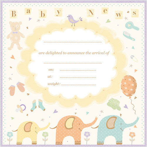 Baby News (Pack of 10 note cards)