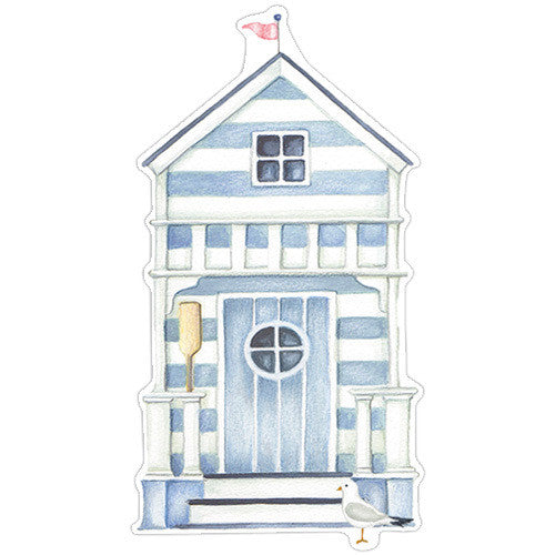 Beach Huts Gift Tag