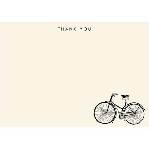 Bicycle Thank You (Pack of 10 note cards)