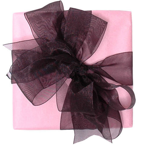 Organza Ribbon - Black (6 metres)