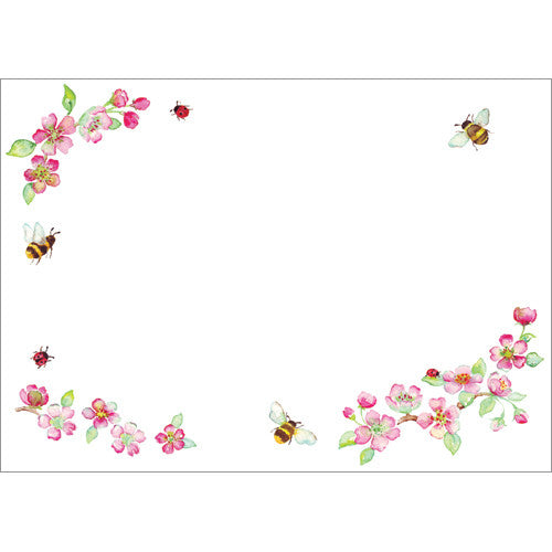 Blossom and Bees (Pack of 10 note cards)