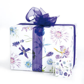 Blue Floral (Folded) Gift Wrap