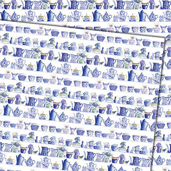 Blue and White China (Folded) Gift Wrap