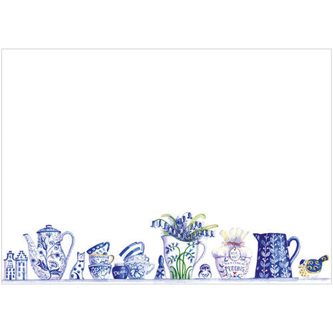 Blue and White China (Pack of 10 note cards)
