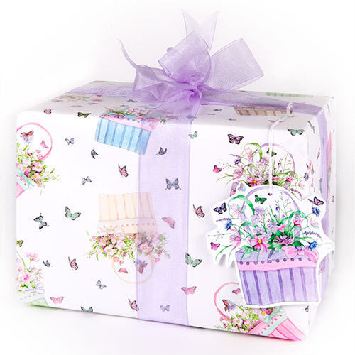 Butterfly Basket (Folded) Gift Wrap