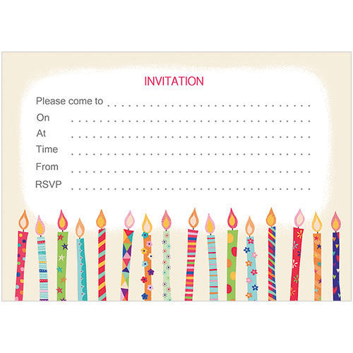 Candles Invitation (Pack of 10 note cards)