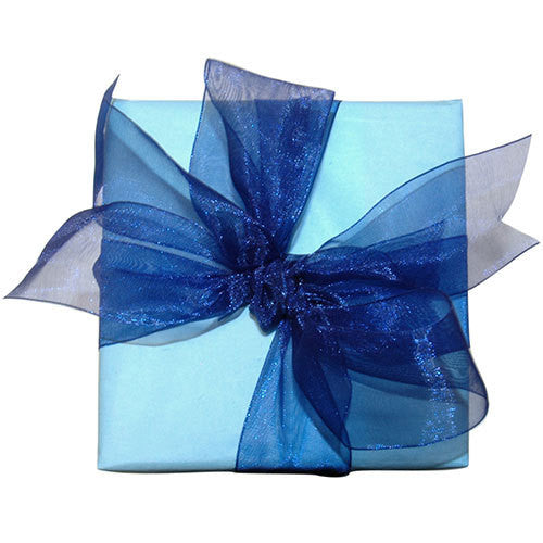 Dark Blue Organza Ribbon (6 metres)