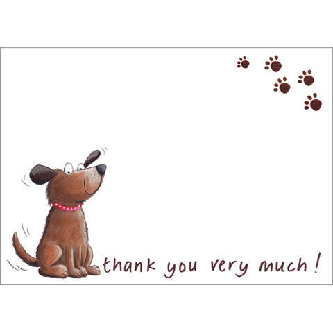 Dog Thank You (Pack of 10 note cards)
