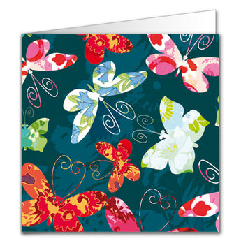 Floral Butterflies Gift Tag