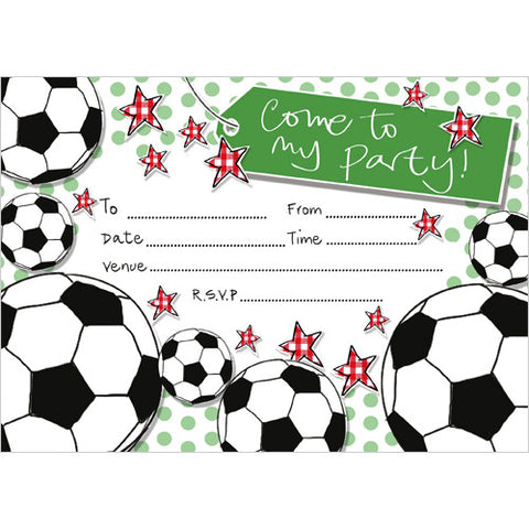 Football Party Invitation (Pack of 10 note cards)