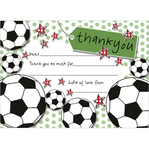 Football Party Thank You (Pack of 10 note cards)