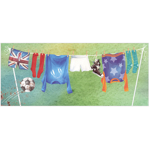 Football Washing Line