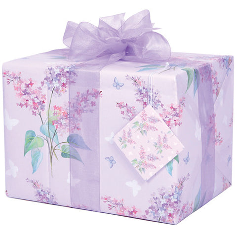 Lilac and Butterflies (Folded) Gift Wrap