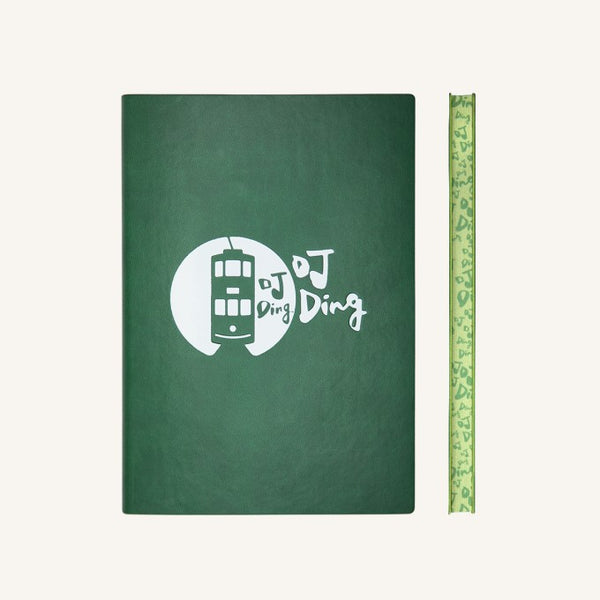 "Signature Lined Notebook ""Hong Kong Tramways"" Edition - A5 size (Green)"