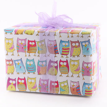 Hoot Owls (Folded) Gift Wrap