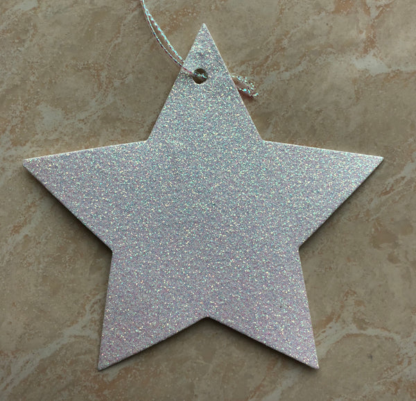 10 Glitter Star Tags (3 colour options)