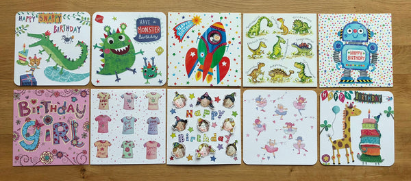 """Birthday Fun"" - Multipack of 10 Cards"