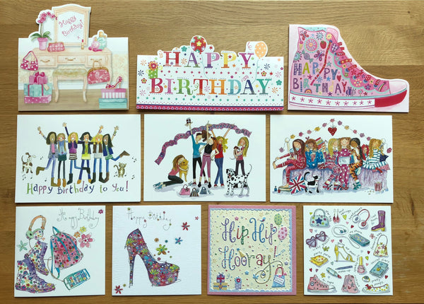 """Party Girls"" - Multipack of 10 cards ($22 per card)"