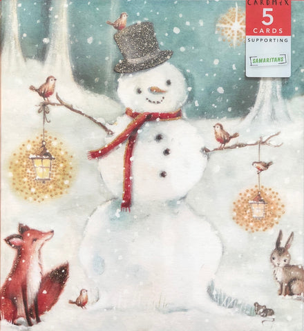 Winter Snowman (pack of 5)
