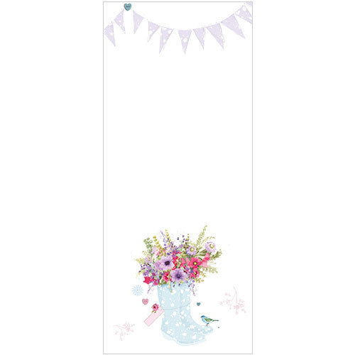 Jotter Pad Blue Wellies and Flowers
