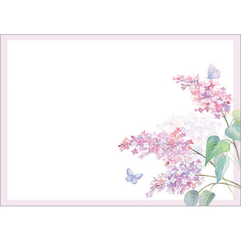 Lilac and Butterflies (Pack of 10 note cards)
