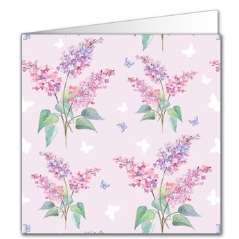 Lilac and Butterflies Gift Tag