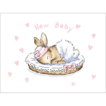 New Baby Bunny - Girl (Gift Card)