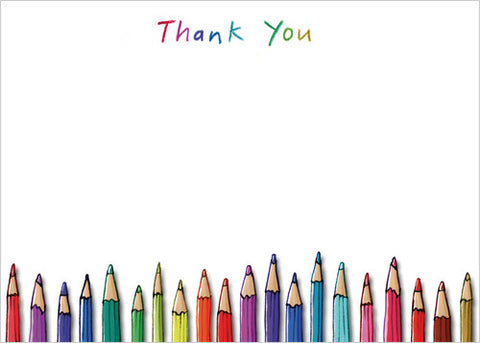 Pencils Thank You (Pack of 10 note cards)