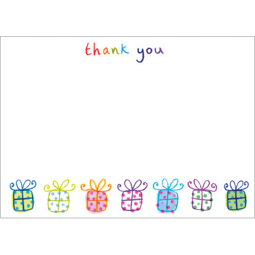 Presents Thank You (Pack of 10 note cards)