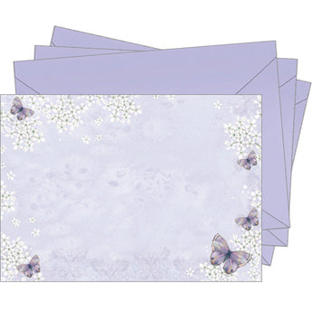 Purple Butterflies (Pack of 10 note cards)