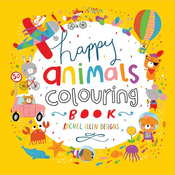 Happy Animals Colouring Book
